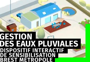 Dispositif web de sensibilisation à la gestion des eaux pluviales - Brest Métropole