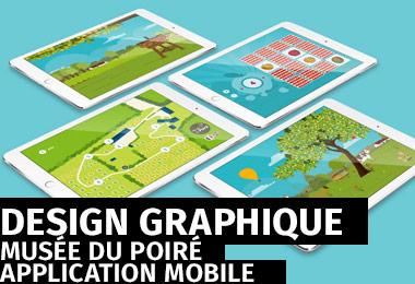Design graphique et illustration pour l'application du Musée du Poiré