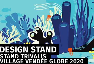 Conception et habillage de stand - Trivalis 2020 / Village du Vendée Globe - les Sables d'Olonne