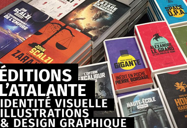 gleech - design graphique - Éditions l'Atalante : identité visuelle, chartes graphiques, illustrations originales, mise en page, typographie