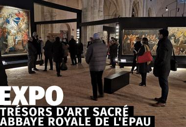 EXPOSITION TRÉSORS D'ART SACRÉ ABBAYE ROYALE DE L'ÉPAU