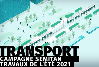 Campagne transport - Travaux de l'été 2021 - Motion Design