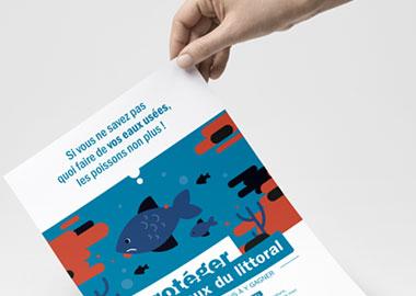 Campagne de sensibilisation à destination du grand public - Protéger les eaux du littoral
